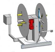 Wanzke A-GMD-Doppelhaspeln zum Auf – und Abwickeln in schwenkbarer Ausführung bis 180°