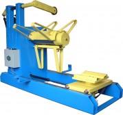 Abwickelhaspel TYP A-PMS 6000 mit verfahrbarem  Coilladewagen, Hebe- und Senkfunktion zum Beladen sowie Entladen der Coils
